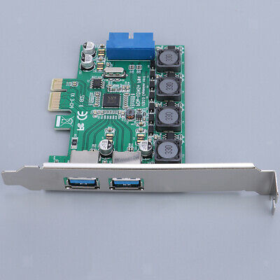 PCI-E Express to 2 Ports USB 3.0 Card Front 20pin Extension Card