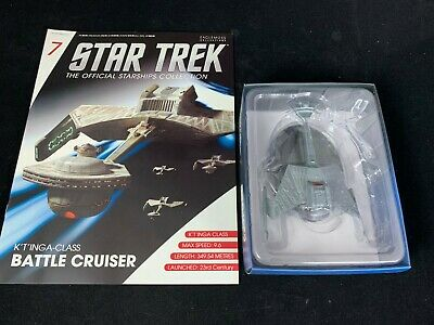 Eaglemoss Star Trek Collection- Starship & Magazine #7-K't'inga Battle Cruiser