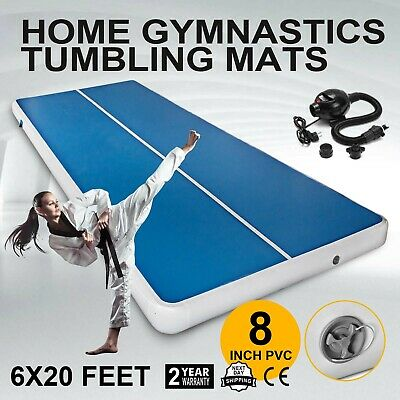 6x20FT Airtrack Inflatable Air Track Home Gymnastics Tumbling Mat GYM + Pump