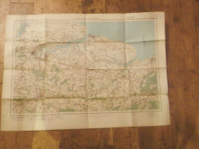 1921 Ordnance Survey One Inch Map Of Chatham And Maidstone Number 116- Map