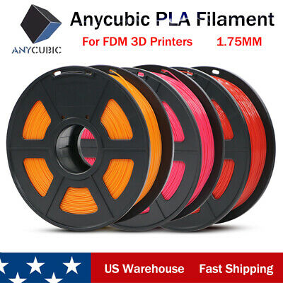 US New ANYCUBIC 1.75mm PLA Filament 1KG for FDM 3D Printers Mega Chiron Kossel