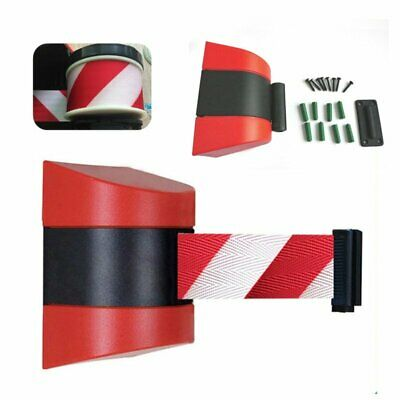 5m Retractable Barrier Tape Security Safety Crowd Control Warning Sign Belt Type