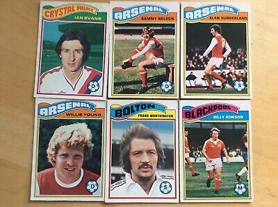 Topps Chewing Gum Football cards 1978 -79 Orange Back x 6