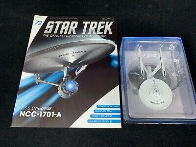 Eaglemoss Star Trek Collection- Starship/Magazine #72- Uss Enterprise Ncc-1701-A