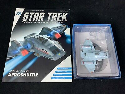 Eaglemoss Star Trek Collection-Starship & Magazine #78-Uss Voyager's Aeroshuttle