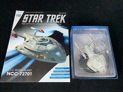 Eaglemoss Star Trek Collection-Starship/Magazine #98- Uss Rhode Island Ncc-72701