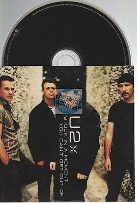 U2 Stuck In A Moment You Can't Get Out Of CD SINGLE card sleeve