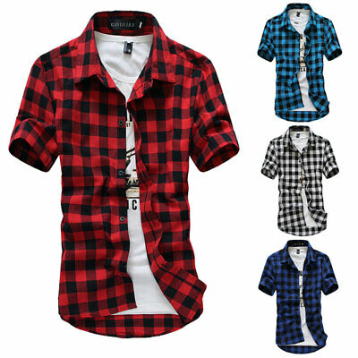 Men's Casual Slim Fit V Neck Short Sleeve Muscle Tee T-shirt Tops Henley Shirts