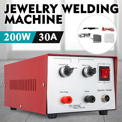 30A 200W Spot Welder Jewelry Welding Machine silver platinum 110V pulse sparkle