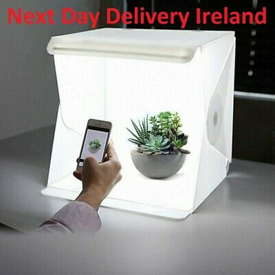 "24cm 9"" Folding Lightbox Photography Photo Studio Softbox LED Light Soft Box"