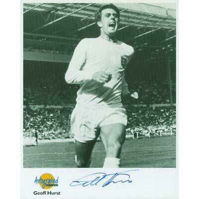 Geoff Hurst - Autograph - Signed Black and White Photograph