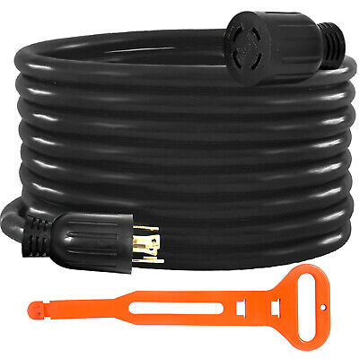 Generator Extension Cord 50 Ft 4 Prong Power Cable 10 Gauge 30 Amp Adapter Plug