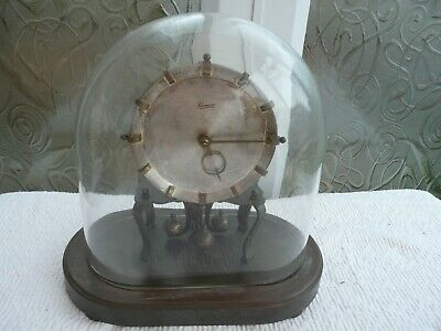 Kundo Anniversary Clock in Oval Glass Dome, Sold For Restoration But Working.