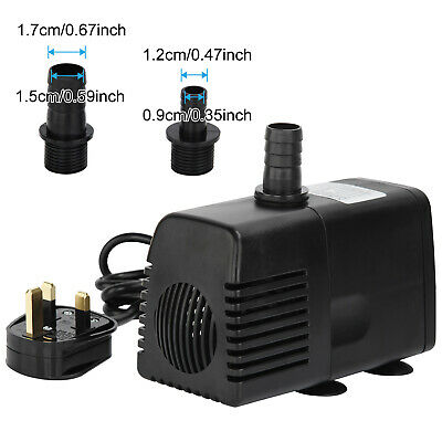 UK Plug Hidom submersible water pump for Garden Aquarium Fish tank 1500 L/H 12V