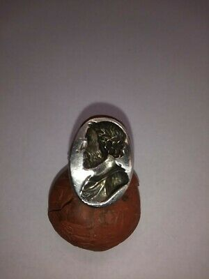 Late Medieval silver seal ring