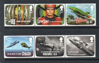 Gb Mnh 2011 Sg3136-3141 Fab The Genius Of Gerry Anderson