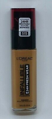 Loreal Infallible 24 HR Fresh Wear Foundation With Sunscreen 515 Copper New