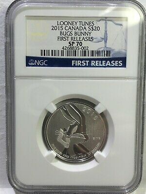 2015 Canada $20 NGC SP70 First Releases Looney Tunes Bugs Bunny