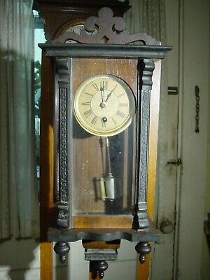 Antique Rare 1800'S German? Austrian? One Day Time Only Miniature Clock Working