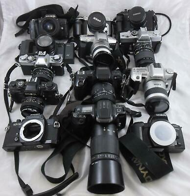 Collection of 11 Film Cameras Minolta Ricoh & Others - Untested Job Lot