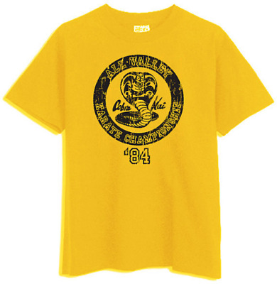 All Valley 84 Cobra Kai Karate Kid no mercy LaRusso Lawrence Yellow T-Shirt