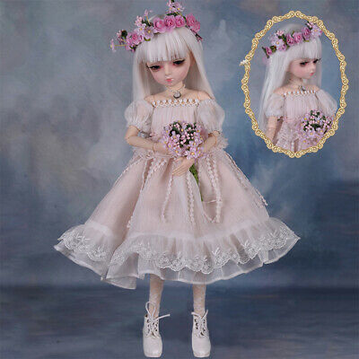 Full Set 18 Ball Joints 1/4 BJD Doll Fashion Beautiful Girl Replaceable Eyes
