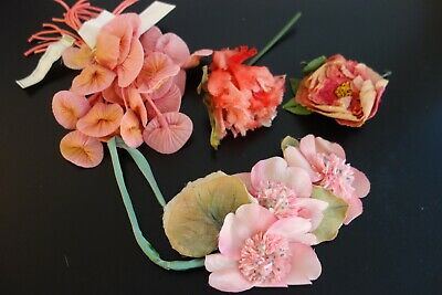 Vintage Millinery Flowers - Lovely Pink And Rose  Vintage   Flowers