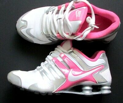 best authentic 7d29e fa342 NIKE SHOX CURRENT Womens Sz 9 US White Green Running Athletic Shoes ...