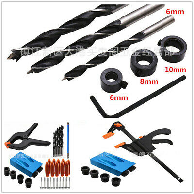 Wood Joint Tool 15°Angle Pocket Hole Screw Jig With Dowel Drill Set Carpenters