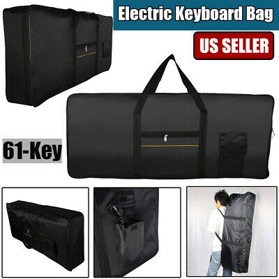 61-Key Portable Electric Keyboard Piano Case Gig Bag Durable Lightweight Fabrics