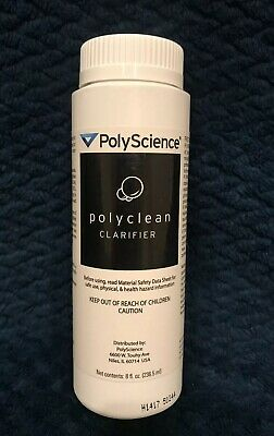 POLYSCIENCE Polyclean Clarifier 8oz Reservoir Cleaner Brand New Sealed Free Ship