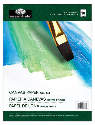 """OIL & ACRYLIC PAINTING CANVAS COATED TEXTURED 280gsm PAPER PAD 9"""" x 12"""" RD354"""