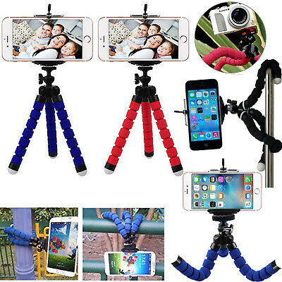 Universal Flexible Stand Tripod Mount Holder For Phone Camera iPhone Samsung UK