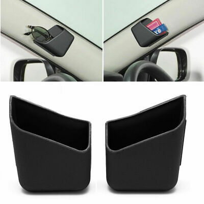 2X Universal Car Auto Accessories Glasses Organizer Storage Box Holder Black Toy