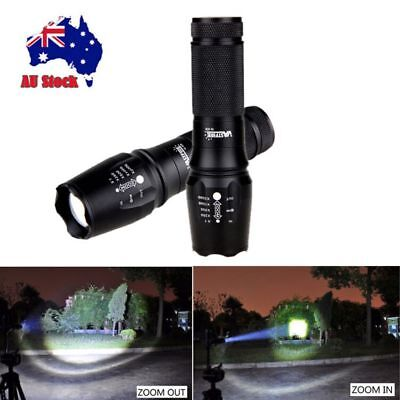 Zoomable Focus 20000lm XML T6 LED Flashlight Hunting Torch Lamp Light 5modes