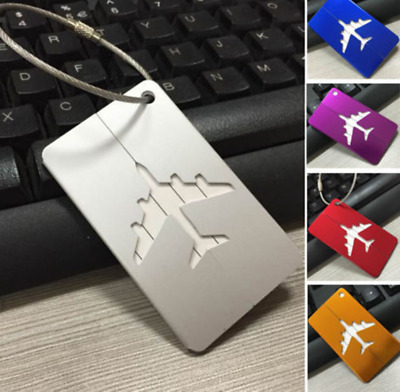 Travel Aluminium Plane Luggage Tags Metal Luggage Aircraft Consignment Elevator