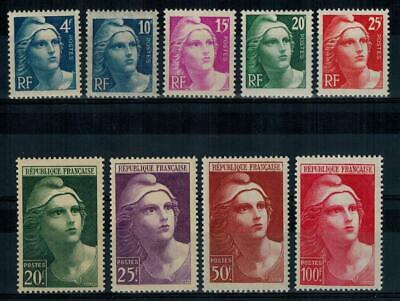 (a53) timbres France n° 725/733 neufs** année 1945