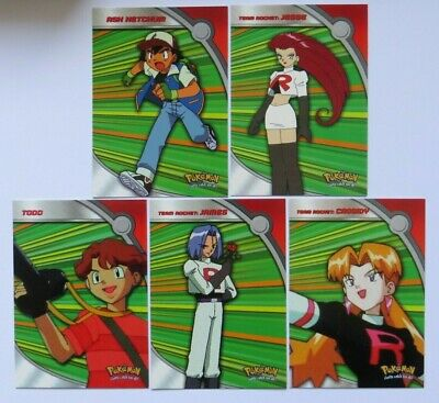 Pokemon TOPPS Complete 5 Heroes and Villains Cards Set (Series 2) HV1-5
