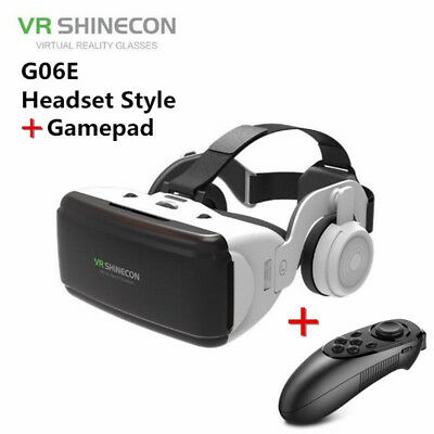 3D VR Virtual Reality Glasses Headsets + Remote Control For iPhone Samsung LOT