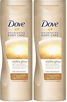 Dove Summer Glow Gradual Self Tan Body Lotion Fair To Medium 2 X 250 Ml = 500Ml
