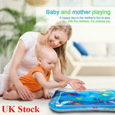 Inflatable Water Mat For Kids Baby Infant Toddlers Mattress Splash Tummy Time UK