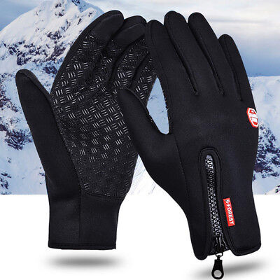 Mens Touch Screen Pu Leather Gloves Thermal Lined Black Driving Winter Gift