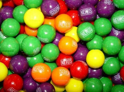 "3lb Nerds Gumballs 1 "" Candy Rempli Bubblegum Fruit Distributeur Feuille Chêne"
