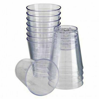 1000 Disposable Plastic Clear 2Cl Shot Jelly Glasses Tumblers Party Shot Cups