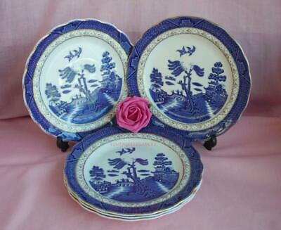"""ROYAL DOULTON BOOTHS REAL OLD WILLOW  7""""  TEA / SIDE PLATES x 5"""