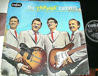 THE CRICKETS / BUDDY HOLLY -   The 'Chirping' Crickets,    RARE 1958 UK DEBUT LP