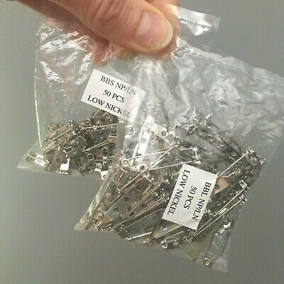 900+ Silver coloured Brooch Bar Pin/Backs - Assorted Sizes - Job Lot / Wholesale