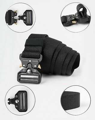 Mens Heavy Duty Tactical Military Belt Soldier Combat Training Quick Release