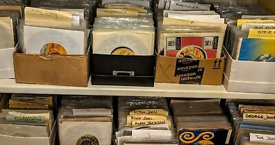 LOT OF 50 45 RPM RECORDS FROM MY COLLECTION w/ sleeves & plastic covers