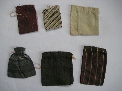 Late Victorian Collection Of Six Small Silk Purses